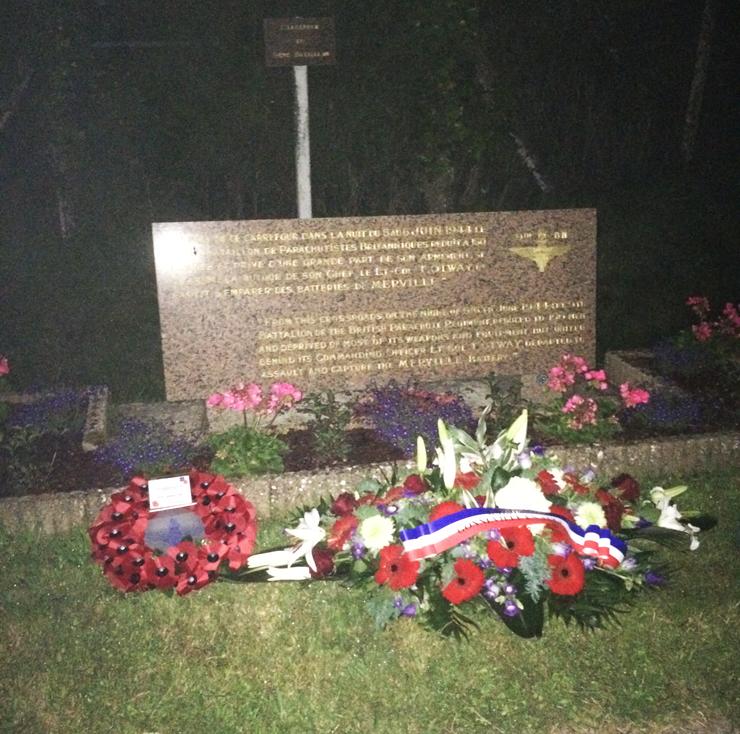 Memorial plaque at Gonneville-en Auge