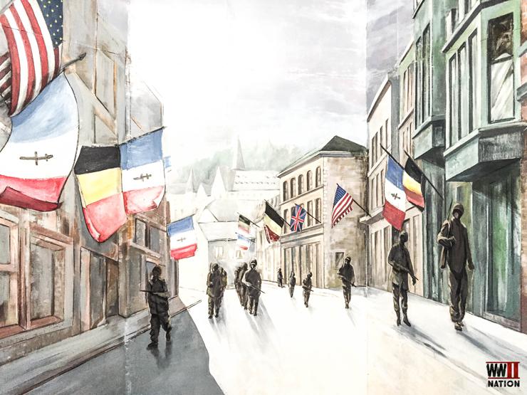 memorial-in-the-museum-of-la-roche-liberation-in-1945