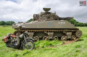 DFVS-Lily-Marlene-Sherman-Tank-with-Despatch-Rider's-Bike