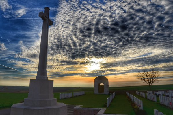 Sunset at Ovillers Somme