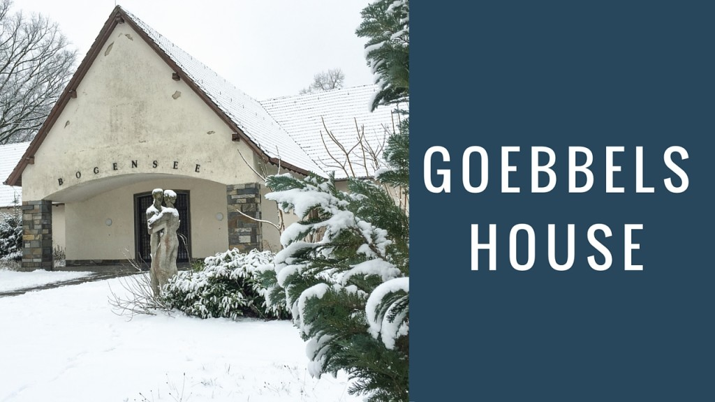 Goebbels House at Bogensee