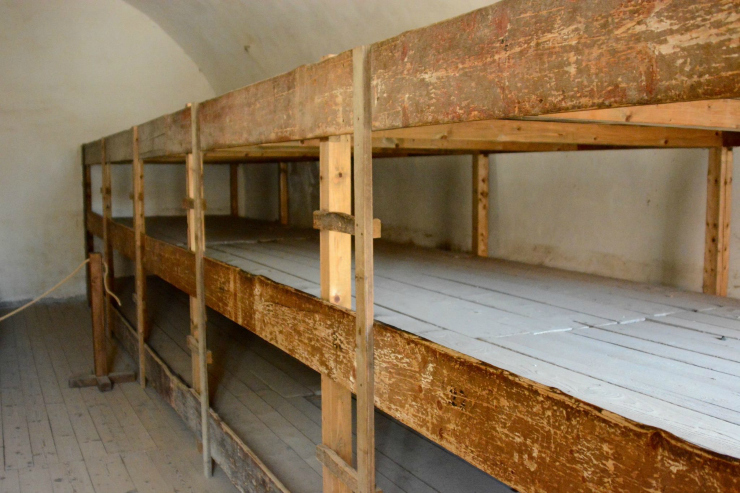 Beds of the Concentration Camp at Terezin