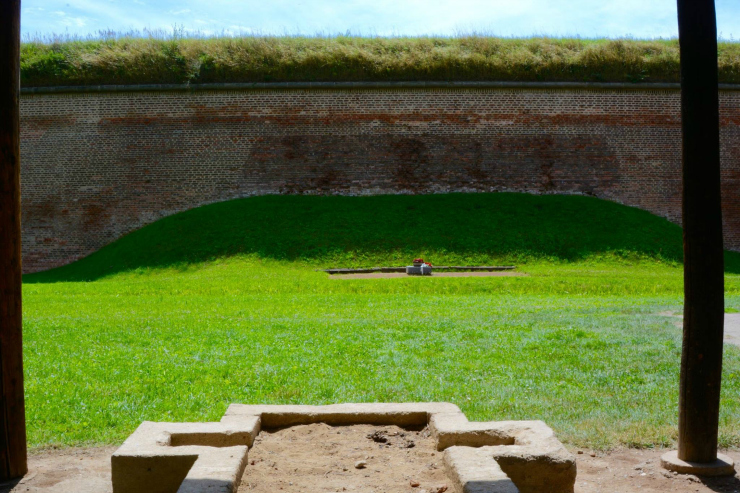 The Firing Wall at the Concentration Camp at Terezin