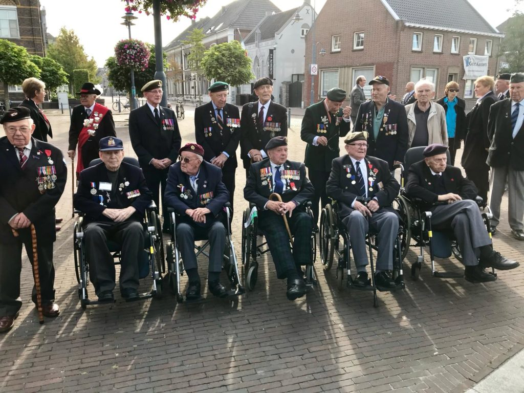 Operation Market Garden 74th Anniversary Tour - Day Two by Ben Mayne - WW2 Nation - Veterans Outside Church Veghel