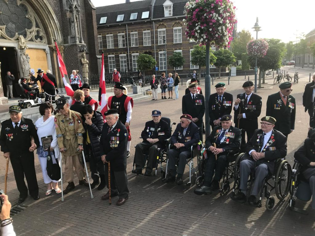 Operation Market Garden 74th Anniversary Tour - Day Two by Ben Mayne - WW2 Nation - Veterans Outside Church